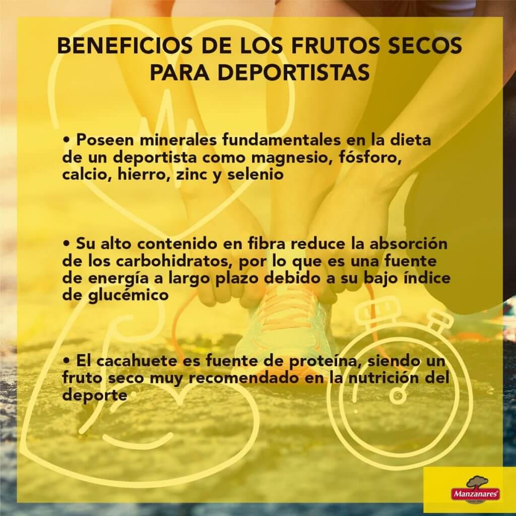 Lista de beneficios de los frutos secos en deportistas
