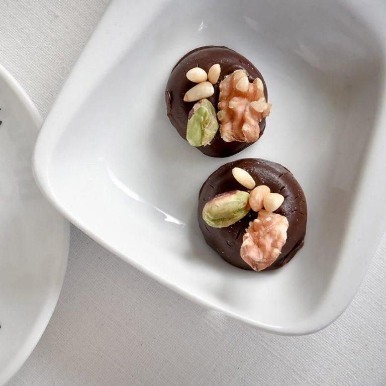 Recetas de Bombones de chocolate con frutos secos