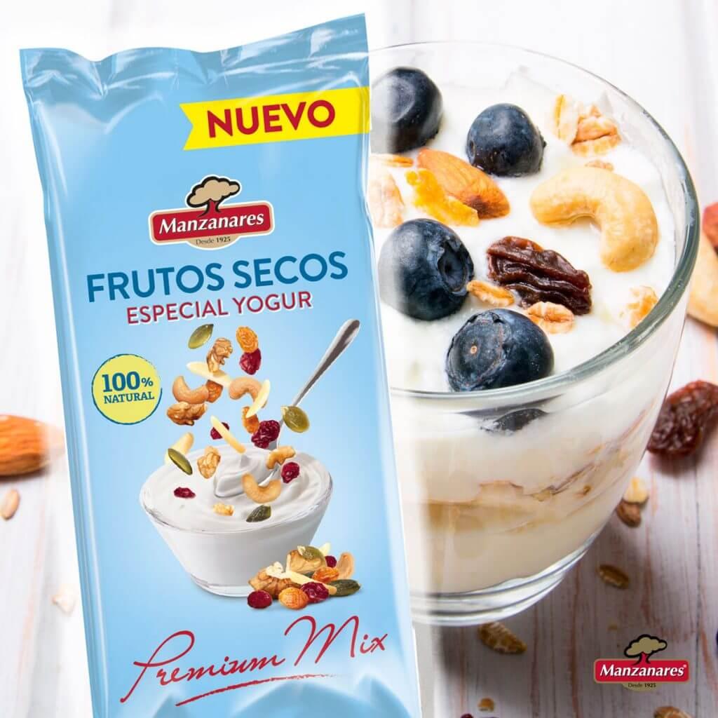 Bolsa de frutos secos para yogur