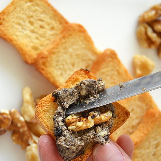 Receta de Paté de champiñones y nueces