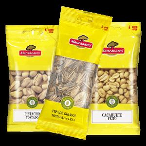 Bolsas de frutos secos para alimentación